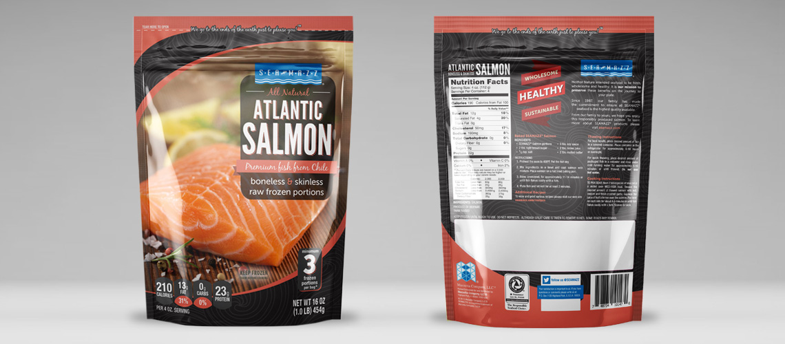 salmon retail bag